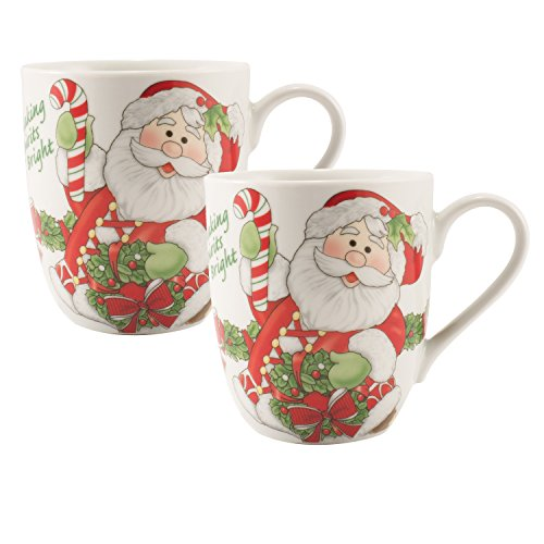 fitz-and-floyd-holiday-mug-candy-cane-santa-collection-set-of-2-red-white