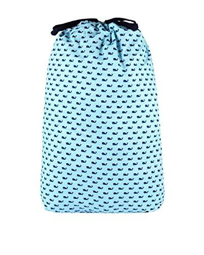 Malabar Bay Whales Blue Laundry Bag