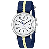"Timex Unisex T2P1429J ""Weekender"" Watch with Navy and Yellow Nylon Band"