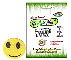 GoColor Anti Mosquito Repellent Patch Smiley With Natural Citronella Oil ( 24 Stickers )