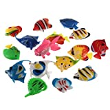 Well-Goal Colorful Artificial Plastic Bubble Lamp Fish Jellyfish Seahorse fr Aquarium tank