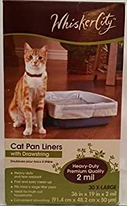 Amazon Com Whisker City Cat Pan Liner With Drawstring