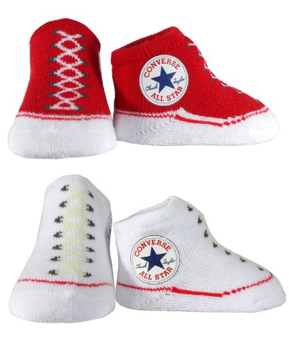 Converse Baby Booties Socks - Red / White