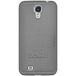 Amzer 95815 Snap On Case - Grey for Samsung GALAXY S4 GT-I9500