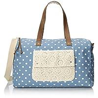 Wild Pair Printed Dot Weekender Duffle Bag, Blue, One Size
