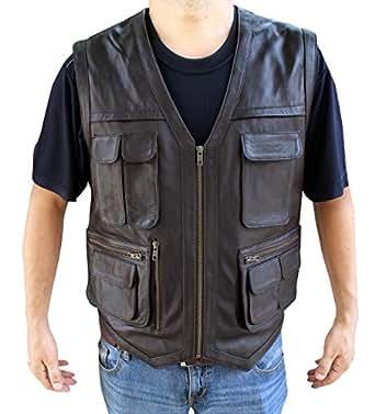 Jurassic World 2015 Chris Pratt Vest (2XL - Faux Leather)