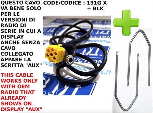 gm-production-191g-xp-chiavi-blk-cavo-aux-mp3-autoradio-di-serie-blaupunkt-su-alfa-fiat-lancia-con-p