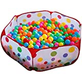 Large Durable Six Sided Hexagon Polka Dot Children Ball Play Pool With Carry Tote (Ball Sold Separately) Great...