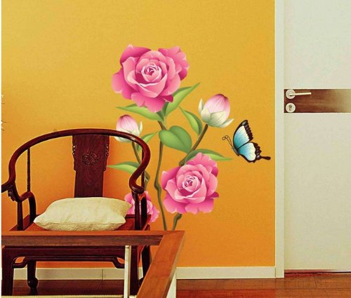 Home Decor Decals Poster House Wall Stickers Quotes Removable Vinyl Large Wall Sticker For Kids Rooms Stickers Mirror Stickers Big Flowers W-278