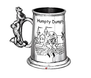 Childs Christening Humpty Dumpty 3 Teddy Handle Tankard from I Luv LTD