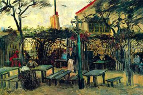 Walls 360 Peel & Stick Wall Decals: Terrace of a Cafe by Vincent Van Gogh (12 in x 8 in)