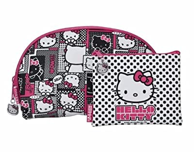 Best Cheap Deal for Hello Kitty Cosmetic Bag - Pink 2 Piece Set by Added Extras - Free 2 Day Shipping Available