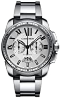 Cartier Calibre de Cartier Silver Dial Chronograph Automatic Mens Watch W7100045 from Cartier