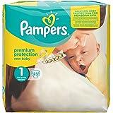 Pampers, Pannolini New Baby, misura: 1 (neonato/2-5 kg), 4 confezioni da 23 pz.