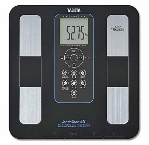 TANITA 体組成計 インナースキャン50 ブラック 【超薄型ボディ 15mm】BC-305-BK