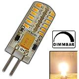 G4 LED 3 Watt Warmweiß 12V AC/DC Wechselspannung mit 48x 3014 SMDs (Epistar) 220 Lumen ~ 15W 360° Stiftsockel Leuchtmittel Lampensockel Spot Halogenersatz Halogen Lampe