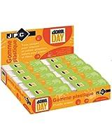 Jpc créations Boîte de 20 Gommes Rectangle 61 x 22 x 12 mm Blanc