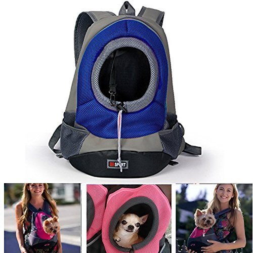 Pet Carrier ,Pashion Breathable Double Shoulder Dog Pet Puppy Bags Backpack Knapsack Cat Carrier Packsack Travelling Pet Holder Bag for Biking, Hiking, Trip, Shopping
