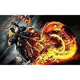 Posterhouzz Movie Ghost Rider: Spirit Of Vengeance HD Wallpaper Background Fine Art Paper Print Poster