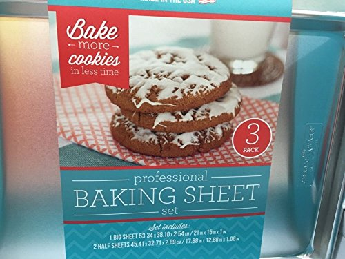 Nordicware American-made Professional Baking Sheet Set, 3 Pieces (Nordic Ware Half Sheet Baking Pan compare prices)