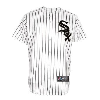 MLB Chicago White Sox A.J. Pierzynski White Black Pinstripe Home Short Sleeve 6... by Majestic