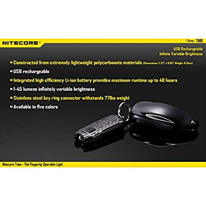 Nitecore-TUBE-Rechargeable-LED-Keychain-Flashlight