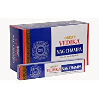 Orkay Vedika Nag Champa 12 Pkt Of 15gm Each (contains 180 Incense Sticks / Natural Agarbatti)