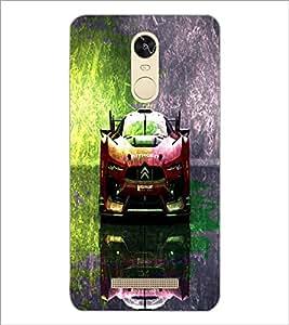 PrintDhaba Car D-4847 Back Case Cover for XIAOMI REDMI NOTE 3 (Multi-Coloured)