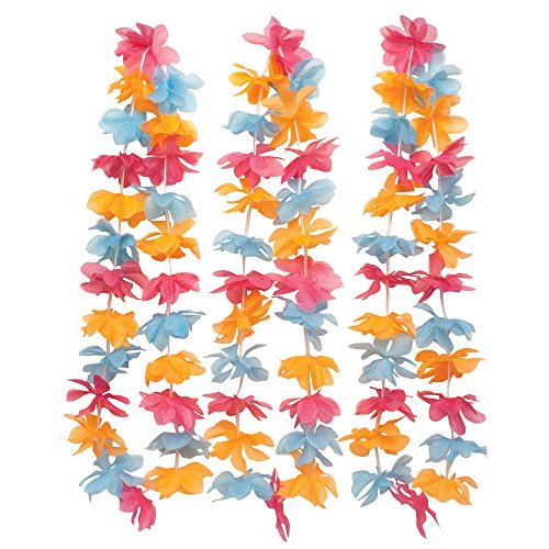 Creative Converting 36 Count Leis Garland, Multicolor