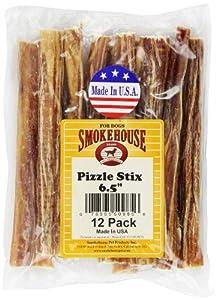 Smokehouse Pizzle Sticks 6-1/2-Inch Dog Treats, 12-Pack