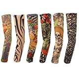 Hmxpls-6pcs-Set-Body-Art-Arm-Stockings-Slip-Accessories-Fake-Temporary-Tattoo-Sleeves-Tiger-Crown-Heart-Skull-Tribal-Shape