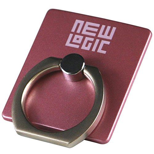 NEWLOGIC C-Ring スマホ タブレット 用 落下防止 マルチ ホルダー リング & スタンド iPhone / iPad / iPod / Galaxy / Xperia フック付き (ピンク)