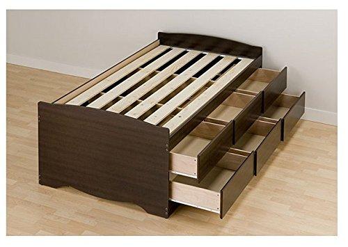 Espresso Best Tall Twin 6-drawer Captain's Platform Storage Bed