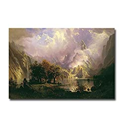 Rocky Mountain Landscape by Albert Bierstadt Premium Gallery-Wrapped Canvas Giclee (Ready to Hang)