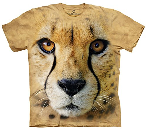 Youth: Big Face Cheetah Endanger Smithsonian Collection Kids T-Shirt Size YM