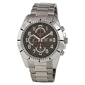 OMAX Men's Chronograph Watch In Stainless Steel Black