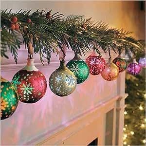 Illuminations Snowflake Snowballs 9 Ornaments