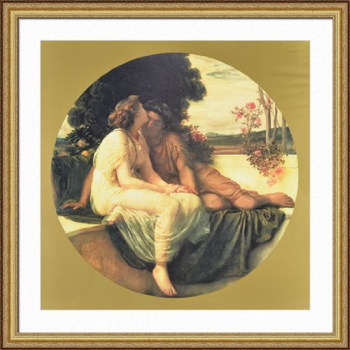 frederick-leighton-acme-septmus-framed-art-print-35x35-gold-finish-frame-museum-matted