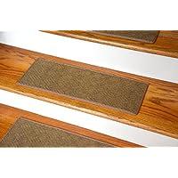 Dean Indoor/Outdoor Pet Friendly Tape Free Non-Slip Carpet Stair Step Treads - Contour Beige 23