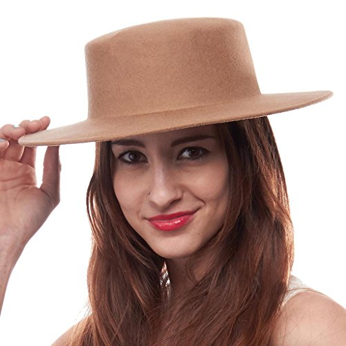 Keaton Ladies Wool Pork Pie Hat, Tan (Pink Pork Pie Hat compare prices)