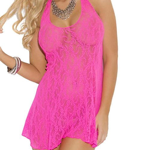 Women's Dress, Laimeng Click to open expanded view Laimeng Sexy Lingerie Lace Halter Mini Dress (Hot Pink) (Plus Size Hot Lingerie compare prices)