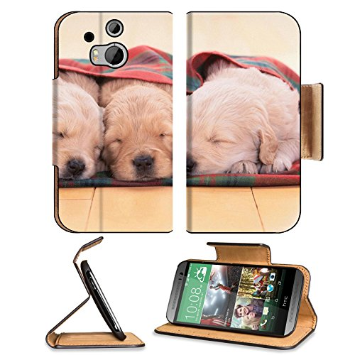 Puppies Dogs Sleeping Pets Animal Blanket Htc One M8 Flip Case Stand Magnetic Cover Open Ports Customized Made To Order Support Ready Premium Deluxe Pu Leather 6 4/16 Inch (158Mm) X 3 4/16 Inch (82Mm) X 9/16 Inch (14Mm) Liil Htc1 Cover Professional M 8 Ca front-724207