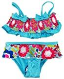 Pink Platinum Baby-Girls 12-24M 2 Pc Blue Spring Garden UV Ptotection Swimwear