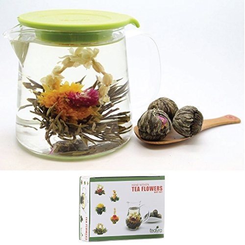 12 Blooming Flowering Green Tea Gift Box (Melon)