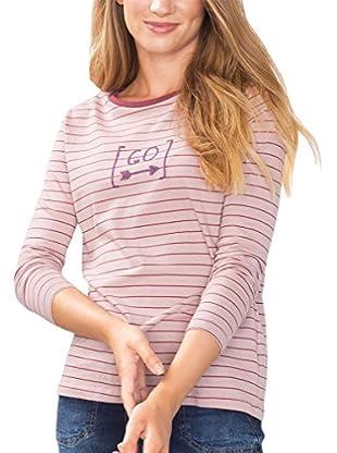 edc by ESPRIT Camiseta Manga Larga (Rosa)