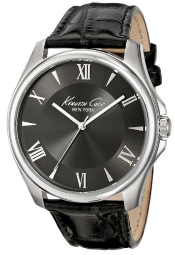 Kenneth Cole New York Men's KC1996 Classic Grey Dial Roman Numerals Black Strap Watch