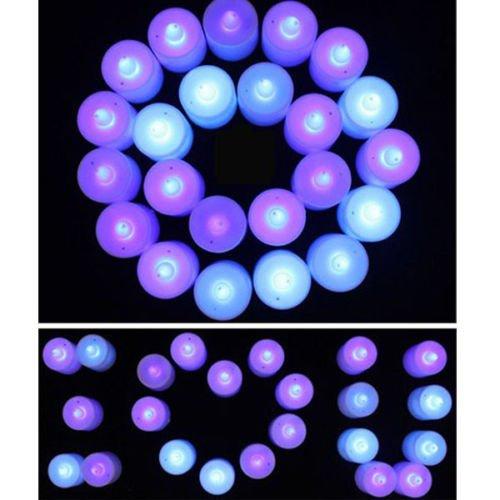 Led Flicker Flameless Battery Electronic Candle Tea Light Blue