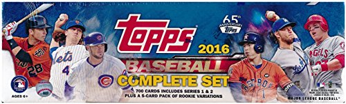2016-Topps-Baseball-EXCLUSIVE-MASSIVE-705-Card-Retail-Factory-Set-with-5-ROOKIE-VARIATION-Cards-Plus-Bonus-Wowzzer-Mystery-Pack-with-AUTOGRAPH-or-MEMORABILIA-Card-Includes-all-Cards-from-Series-12