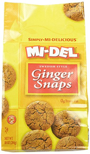Mi-Del, Swedish Style Ginger Snaps, 10 Ounce Bags (Pack of 12)
