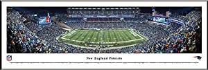 NEW ENGLAND PATRIOTS - GILLETTE STADIUM - NFL PANORAMA POSTER PRINT FRAMED by Blakeway Panoramas